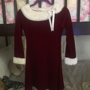 A red and white Christmas dress